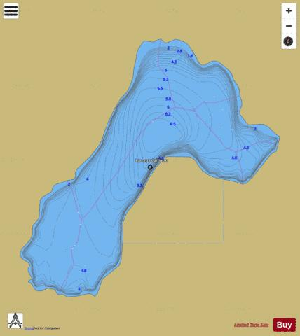 Cailloux, Lac aux Fishing Map - i-Boating App