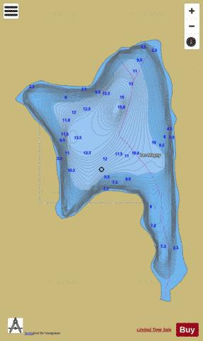 Magny, Lac Fishing Map - i-Boating App