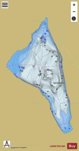 McLagan, Lac Fishing Map - i-Boating App