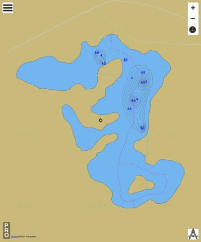 Long Lake Fishing Map - i-Boating App