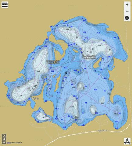 Madge Lake Fishing Map - i-Boating App