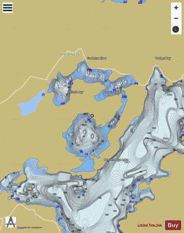 Martin Lake Fishing Map - i-Boating App