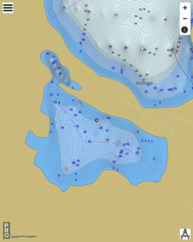 Swede Lake Fishing Map - i-Boating App