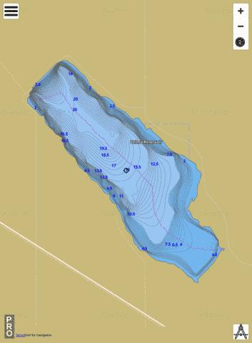 Zelma Reservoir Fishing Map - i-Boating App