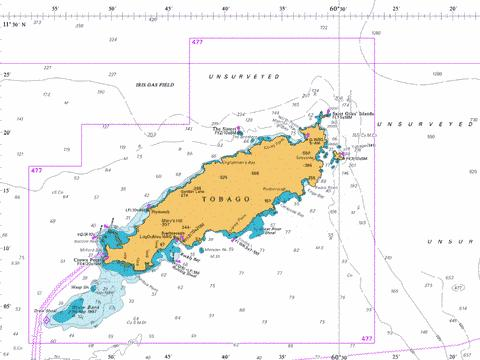 Tobago and Approaches Marine Chart - Nautical Charts App