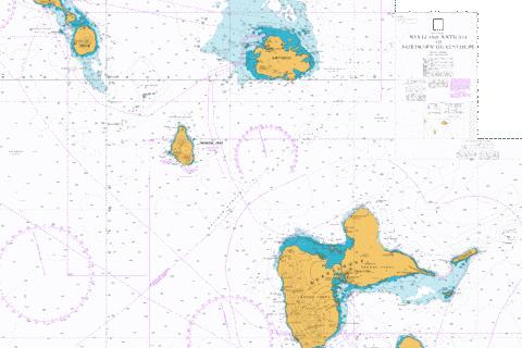 Nevis and Antigua to Northern Guadeloupe Marine Chart - Nautical Charts App