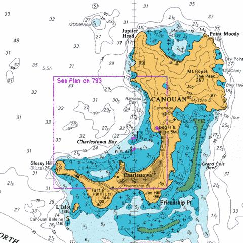 B  Charlestown Bay Marine Chart - Nautical Charts App