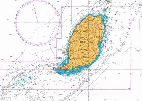 Grenada Marine Chart Cb Gb 0797 0 Nautical Charts App