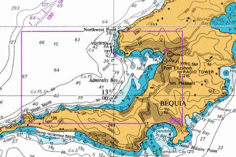 A  Admiralty Bay Marine Chart - Nautical Charts App