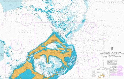 Eastern and Western Approaches to The Narrows including Murray's Anchorage Marine Chart - Nautical Charts App