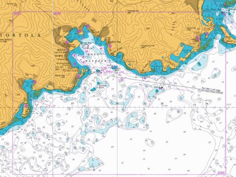 Road Harbour and Approaches Marine Chart - Nautical Charts App