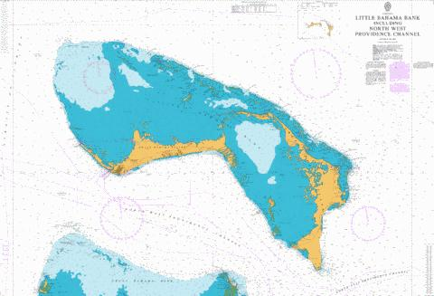 Little Bahama Bank including North West Providence Channel Marine Chart - Nautical Charts App