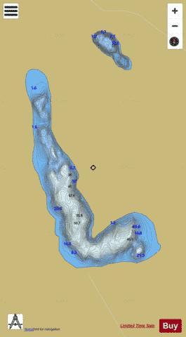 Annagh Lough or White Lough Fishing Map - i-Boating App