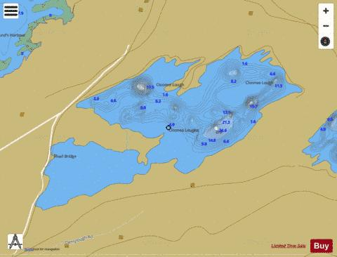 Cloonee Lough Middle Fishing Map - i-Boating App