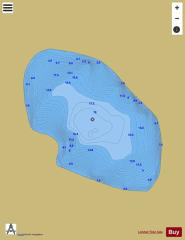 Oura (Lough) Fishing Map - i-Boating App