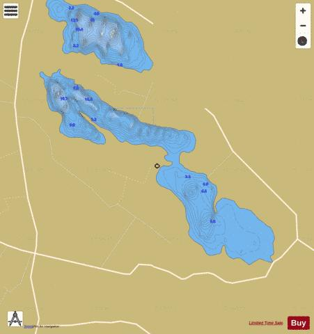 Urlaur Lough Fishing Map - i-Boating App