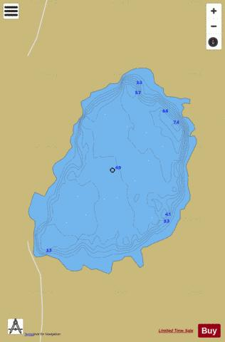 Tullaghalaher Lough Fishing Map - i-Boating App
