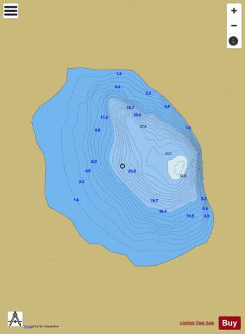 Barnahallia Lough Fishing Map - i-Boating App
