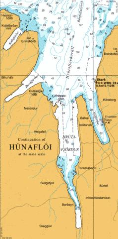 Continuation of Hunafloi Marine Chart - Nautical Charts App
