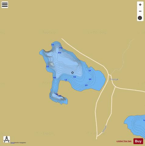 Drevsjøen Fishing Map - i-Boating App