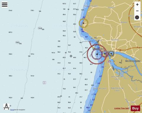 Approaches to Figueira da Foz Marine Chart - Nautical Charts App