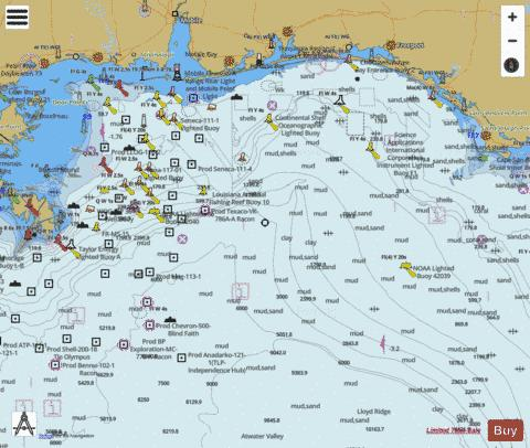 CAPE ST. GEORGE TO MISSISSIPPI PASSES Marine Chart - Nautical Charts App