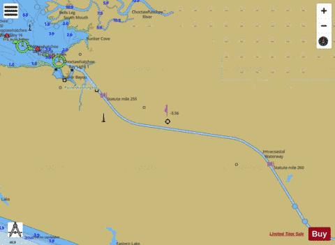 WEST BAY TO SANTA ROSA SOUND EXTENSION 1 Marine Chart - Nautical Charts App