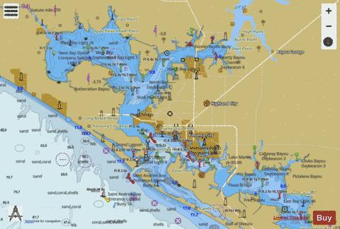 EAST BAY TO WEST BAY FLORIDA SIDE A Marine Chart - Nautical Charts App