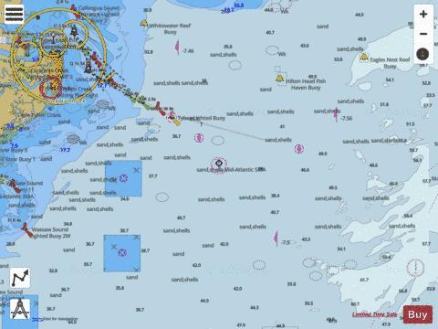 Savannah River Approach Marine Chart Us11505p2900 Nautical