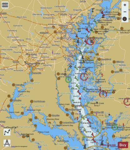 Chesapeake bay northern part marine chart us12280 p2974