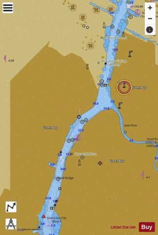 Green Bay Wisconsin Marine Chart Nautical Charts
