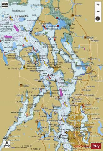 PUGET SOUND - NORTHERN PART Marine Chart - Nautical Charts App