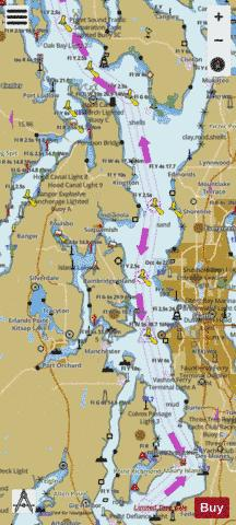POSSESSION SOUND TO VASHON ISLAND  PAGE A Marine Chart - Nautical Charts App