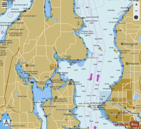PUGET SOUND APPLE COVE POINT TO KEYPORT Marine Chart - Nautical Charts App