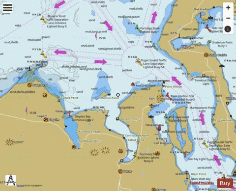 APPROACHES TO ADMIRALTY INLET Marine Chart - Nautical Charts App