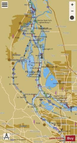 COLUMBIA RIVER SAINT HELENS TO VANCOUVER Marine Chart - Nautical Charts App