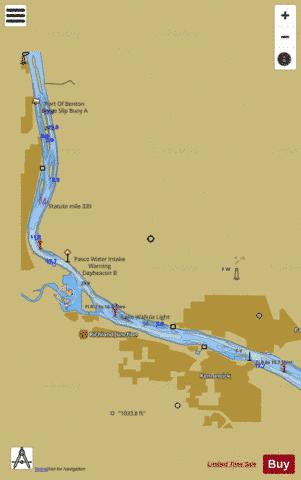 COLUMBIA RIVER-PASCO TO RICHLAND Marine Chart - Nautical Charts App
