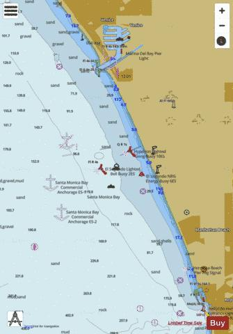 EL SEGUNDO AND APPROACHES Marine Chart - Nautical Charts App