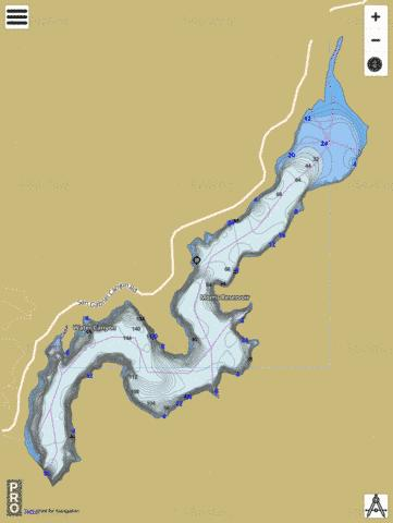 Morris Reservoir Fishing Map - i-Boating App