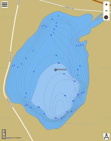 Delaware Lake Fishing Map - i-Boating App