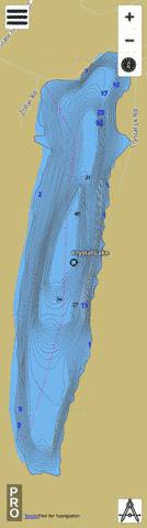 Crystal Lake A Fishing Map - i-Boating App