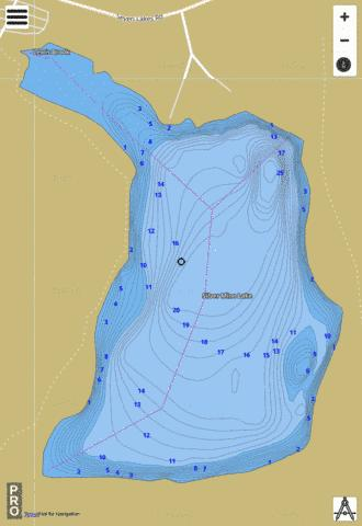 Silver Mine Lake Fishing Map - i-Boating App