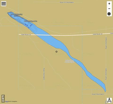 Babcock Ridge Lake,  Grant County Fishing Map - i-Boating App