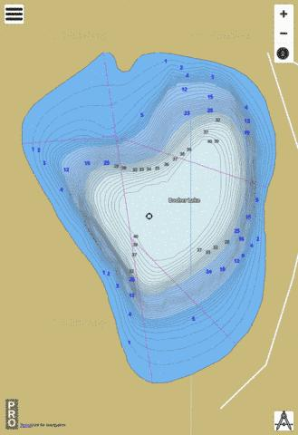 Booher Lake,  Okanogan County Fishing Map - i-Boating App