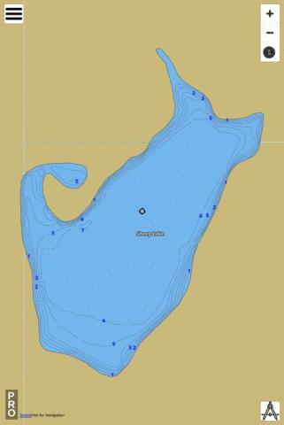 Sheep Lake,  Whitman County Fishing Map - i-Boating App