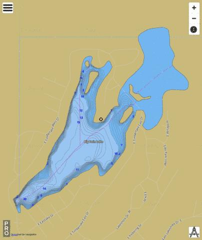 Timber Lake,  Mason County Fishing Map - i-Boating App