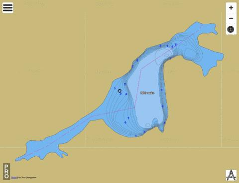 Wills Lake,  Lincoln County Fishing Map - i-Boating App