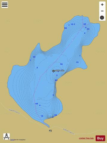 Apeekwa Lake Fishing Map - i-Boating App