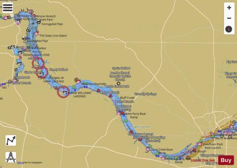 Pickwick Lake Map Pickwick Lake (Fishing Map : US_AL_01313289) | Nautical Charts App