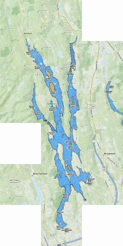 Candlewood Lake Map Lake Candlewood (Fishing Map : US_CT_1490) | Nautical Charts App Candlewood Lake Map